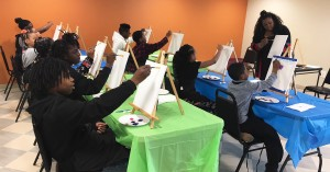 children painting at paint party new neighborhoods