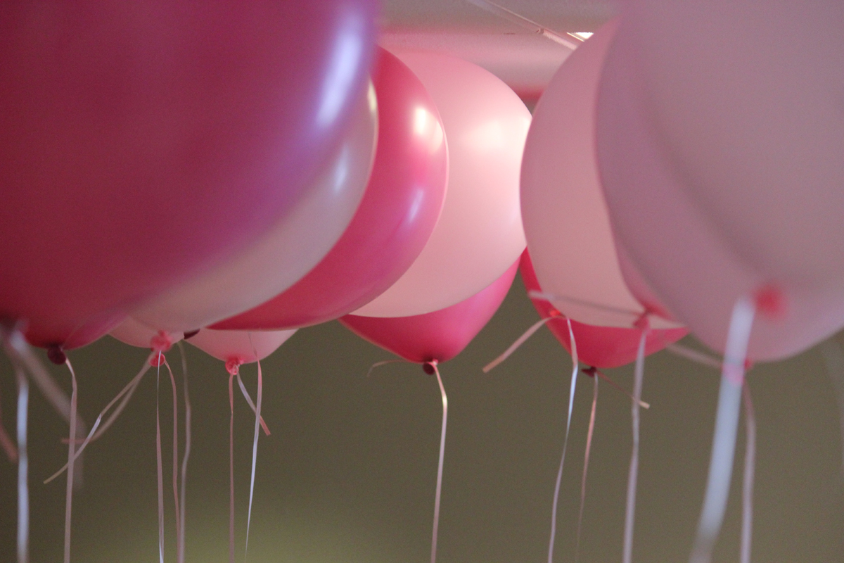 Pink Balloons Before The 2016 Balloon Release For Cancer Awareness