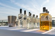 Suntory Japanese Whisky bottles on a table