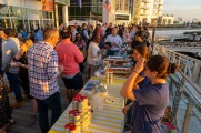 Food and drinks being served on harbor point stamford