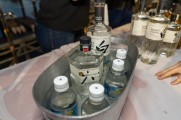 Suntory Japanese whiskey in an ice tub on a table