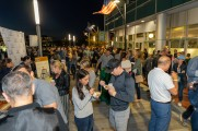Large crowds of people at the Stamford Brew and Whiskey festival