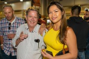 A man and women enjoying the night at the Stamford Brew and Whiskey festival