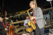 Live jazz band at the brew fest