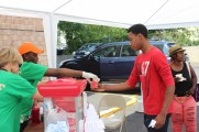 Boy Getting Food at 2016 Health Fair