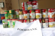 Soup and Vegetable Cans For Food Bank at the 2016 Health Fair