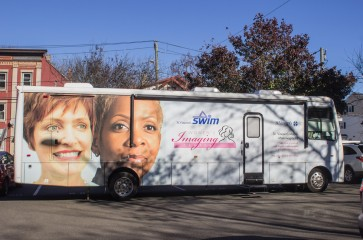 st. vincents swim bus at 2017 healthy harvest new neighborhoods