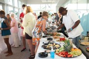 Patrons Getting Food at Jazz on the Rocks 2015