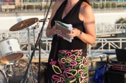Woman Giving a Speech At Jazz on the Rocks 2015