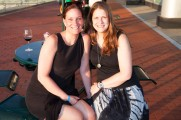 Two Women Smiling at Jazz on the Rocks 2015