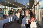 Community Members at Vendor Tables at Jazz on the Rocks 2015