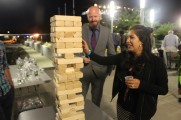 Woman Smiling Playing Jenga At The 2016 Jazz On The Rocks