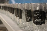 Glass Cups Labeled 2016 Jazz on The Rocks