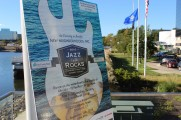 Promotion Flyer For The 2016 Jazz on The Rocks With The Water In The Background
