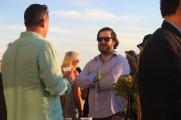 Two Men Talking at Jazz on the Rocks 2016