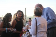 Patrons Getting Food and Drinks at the 2016 Jazz on the Rocks