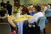 Women Smiling and Having Fun at Their Tables at the Senior Prom Luncheon 2016
