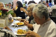 Women Eating Food at Senior Prom Luncheon 2016