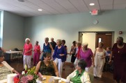 Group of Women Dancing and Smiling at Senior Prom Luncheon 2016