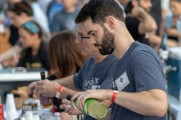 vendors pour patrons drinks at stamford brew and whiskey festival 2018