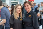 two women smile for photo at stamford brew and whiskey festival 2018
