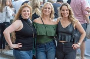 three women smile at stamford brew and whiskey festival 201