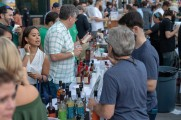 Patrons order drinks at stamford brew and whiskey festival 2018