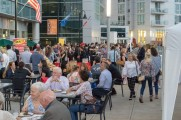 Patrons enjoy food and drinks at stamford brew and whiskey festival 2018
