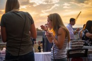 Women Enjoy Food At Stamford Brew and Whiskey Festival 2017