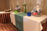 Raffle Baskets at The Waters Edge Staff Event