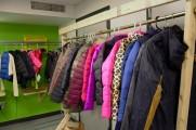Coats Displayed On Coat Racks at 2016 Winter Warmup
