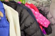 Coats Hanging On Metal Coat Rack at the 2016 Winter Warmup