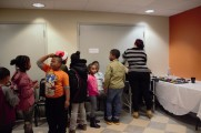 Children Waiting In Line For Facepaint at 2016 Winter Warmup