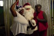 Women Pose With Santa At The 2016 Winter Warmup