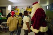 Children Meet Santa at The 2016 Winter Warmup