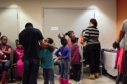 Children Waiting In Line For Face Painting At The 2016 Winter Warmup
