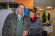 Man and Woman Smile At Winter Warmup 2017