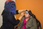 Young Girl Gets Face Paint At Winter Warmup 2017