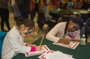 Young Girls Participate In Activity At Winter Warmup 2017