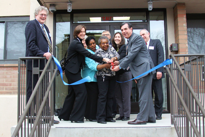 Ribbon cutting at Friendship house apartments