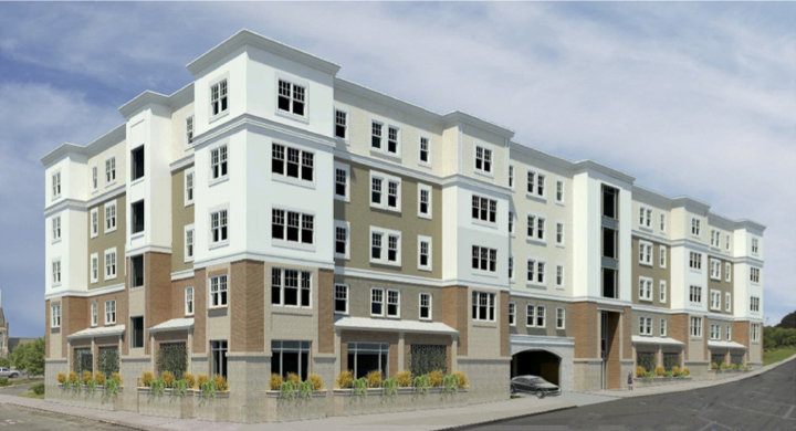 Westgate apartment complex rendering for Bridgeport CT